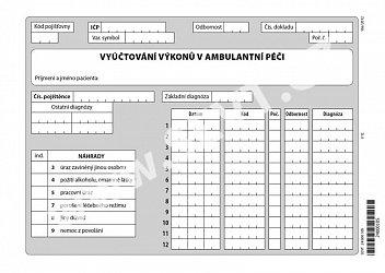 Vyúčtování výkonů v ambulantní péči
