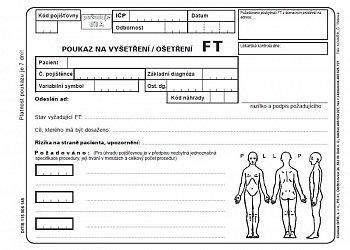 Poukaz na vyšetření/ošetření FT